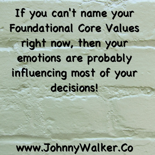 Foundational Core Values
