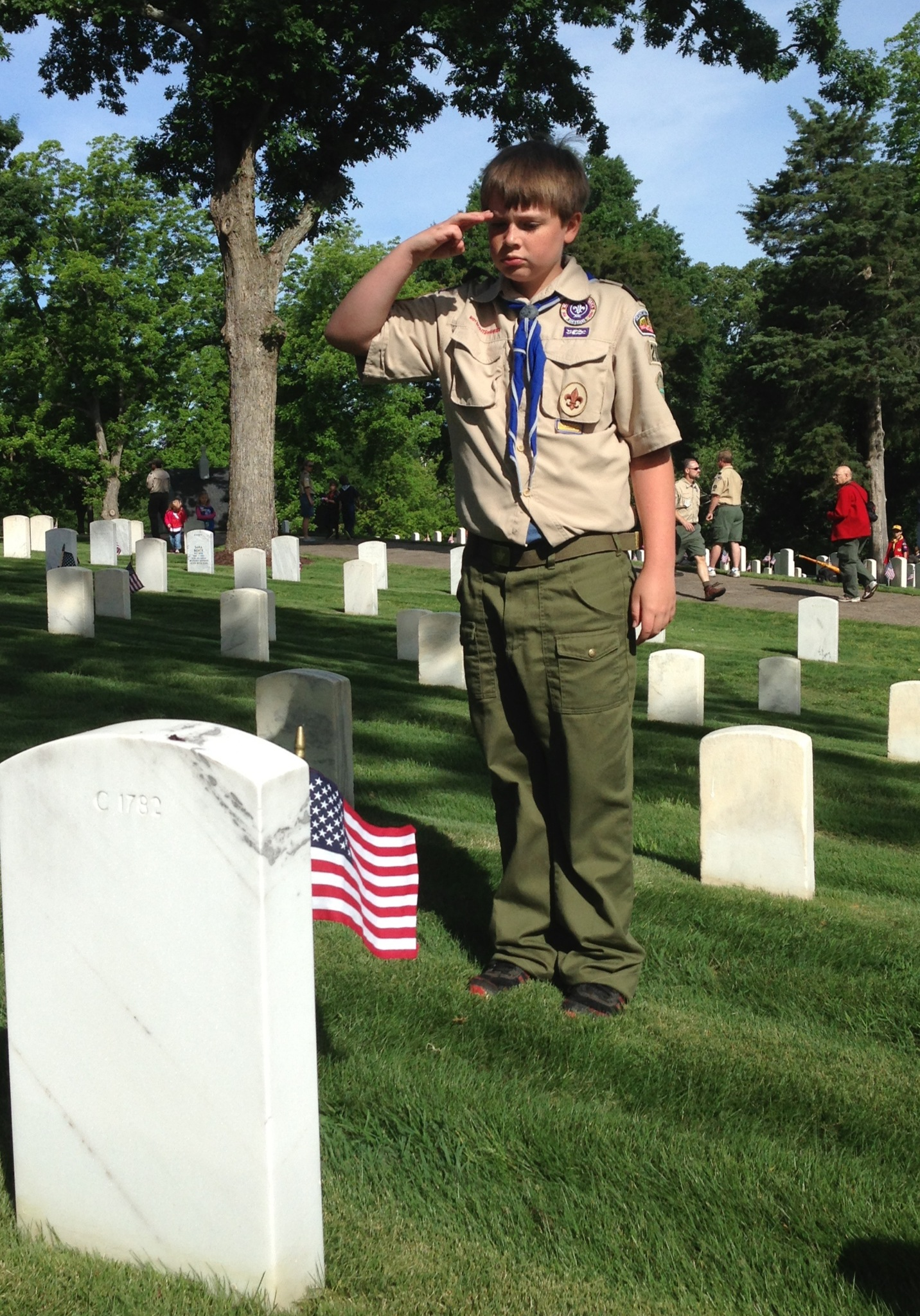 Mitch Saluting an Unknown Soldier