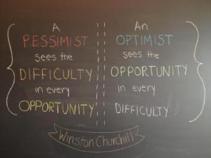 pessimism vs. optimism